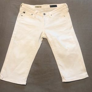 "AG ""The Malibu"" White Crop Pant Size 26R"